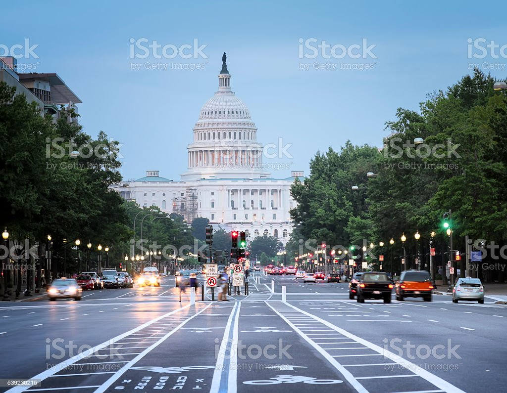 Capitol Building from Pennsylvania Avenue stock photo