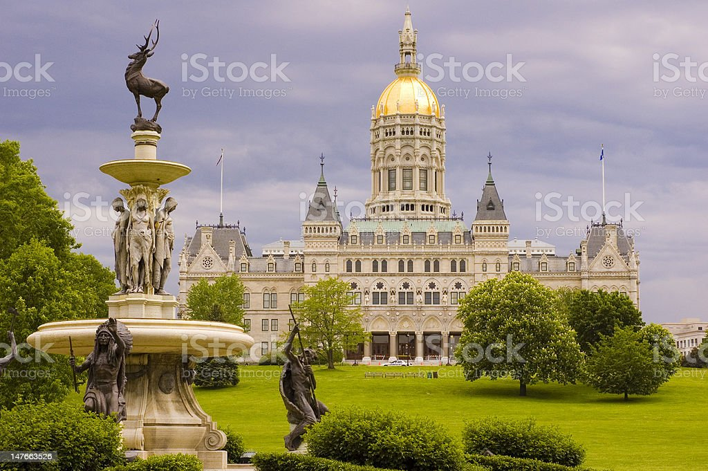 Capitol Building, Hartford, Connecticut, USA stock photo