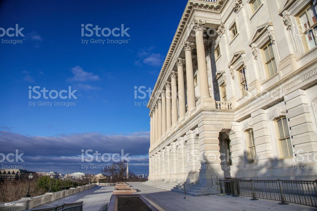 U.S. Capitol Building House of Representatives Wing in Washington, DC stock photo