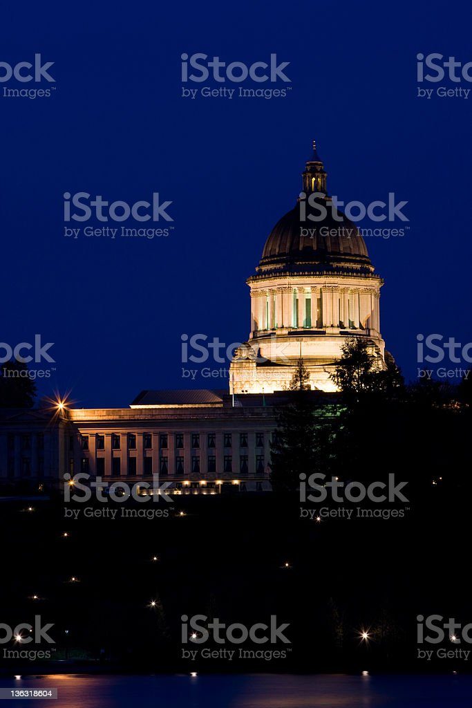 Capitol Building In Olympia Washington stock photo