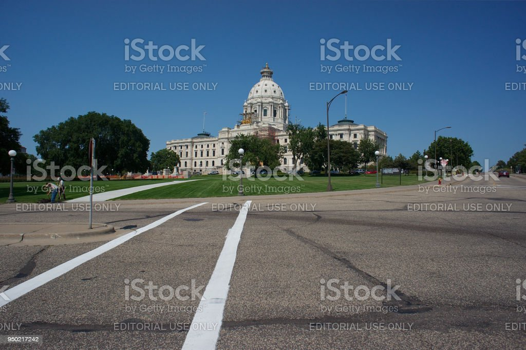 Capitol Building in St. Paul MN stock photo