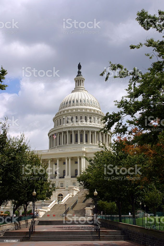 Capitol building in Washington D.C. royalty-free stock photo