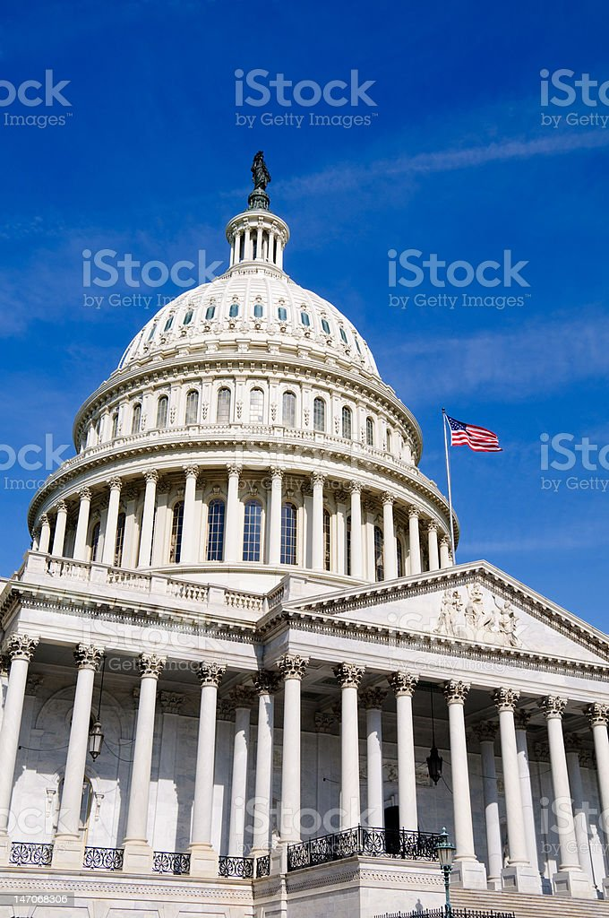 US Capitol Building in Washington DC royalty-free stock photo