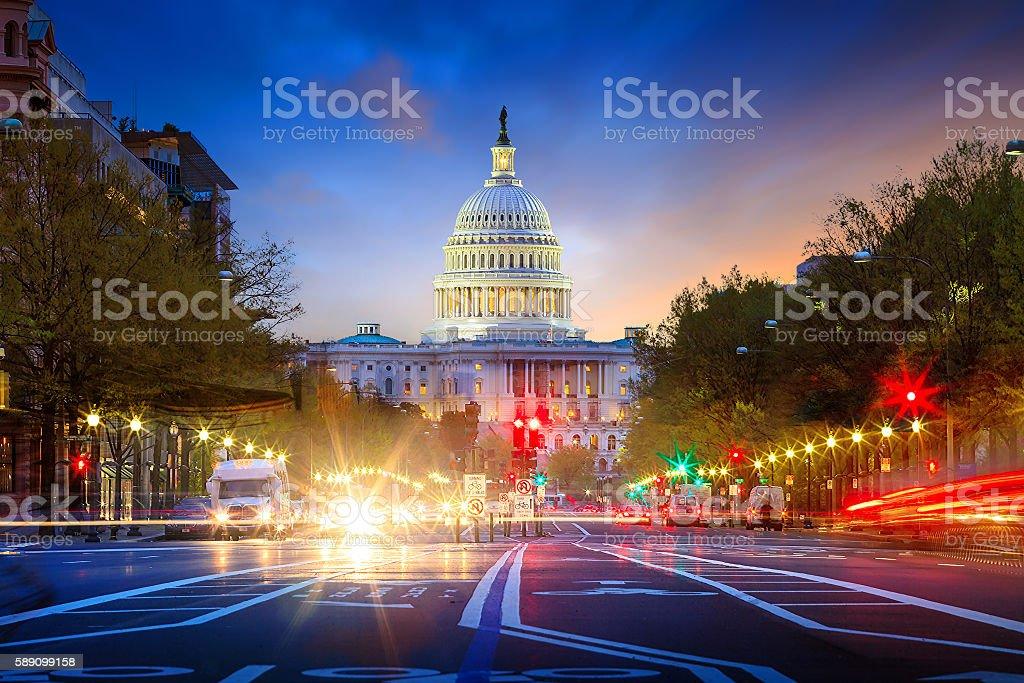 Capitol building in Washington DC stock photo
