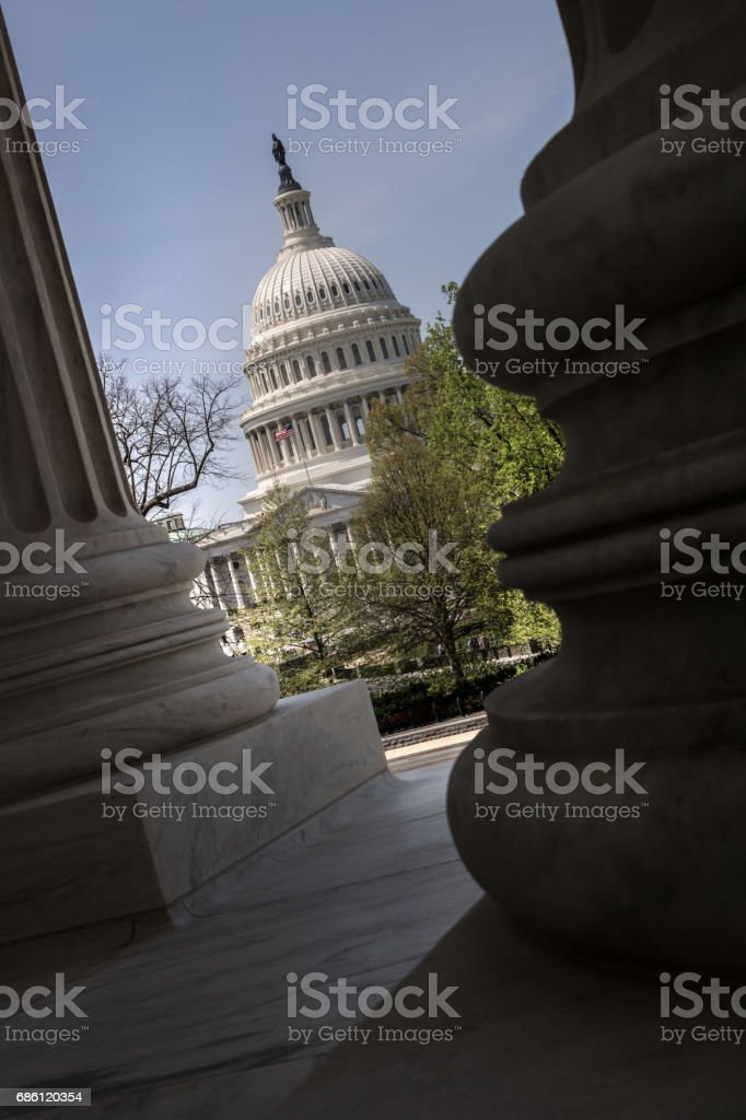 US Capitol Building in Washington DC stock photo