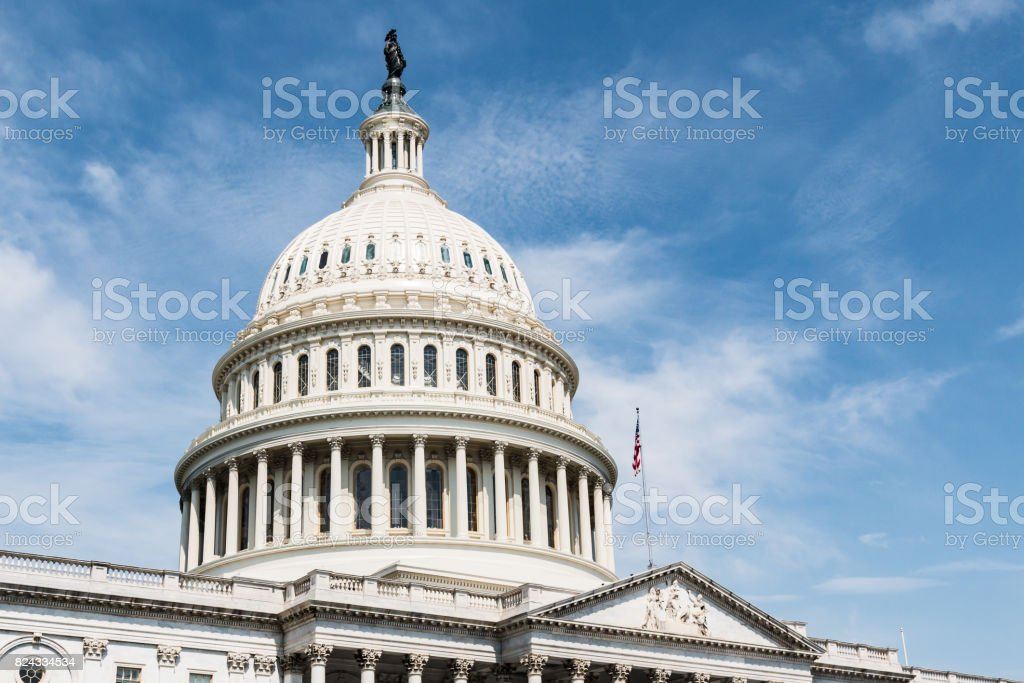Capitol Building in Washington, DC stock photo