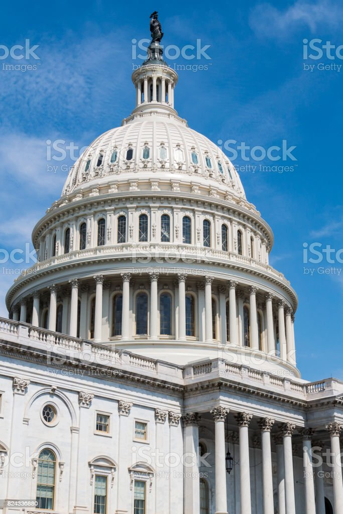 U.S. Capitol Building in Washington, DC stock photo