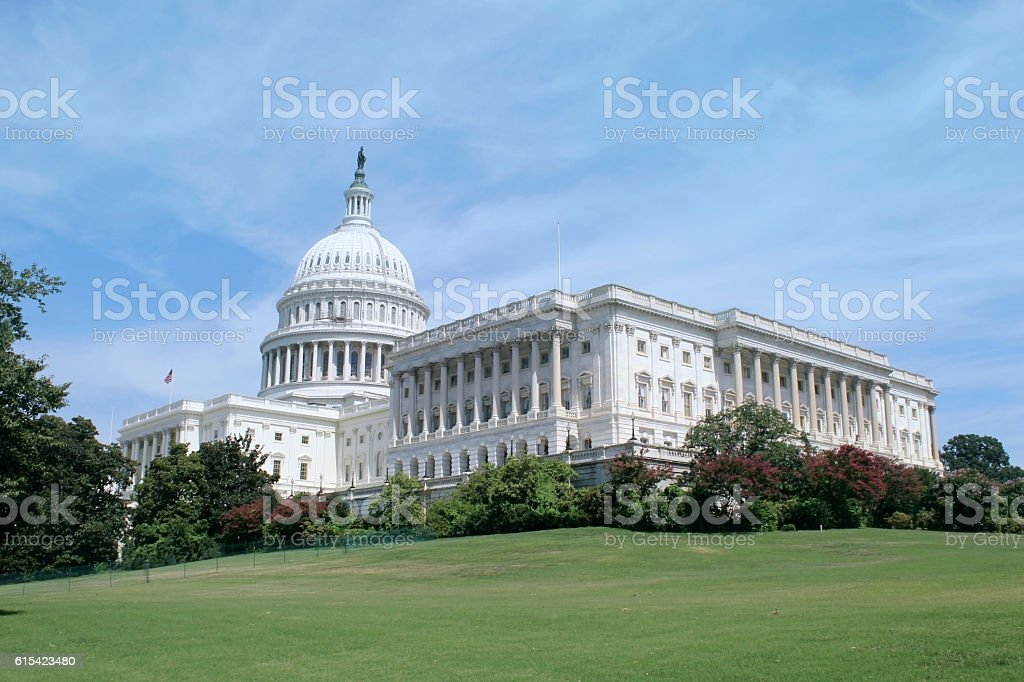 Capitol Building in Washington DC, USA. stock photo