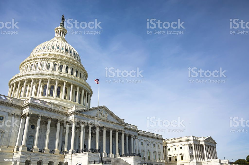 Capitol building in Washington stock photo