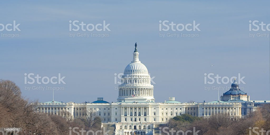 US Capitol Building in Winter, Washington DC, United States royalty-free stock photo
