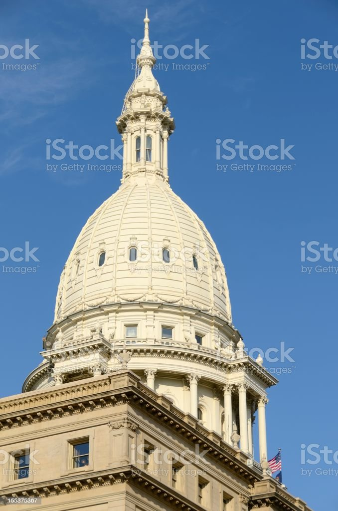 Capitol Building, Lansing Michigan royalty-free stock photo