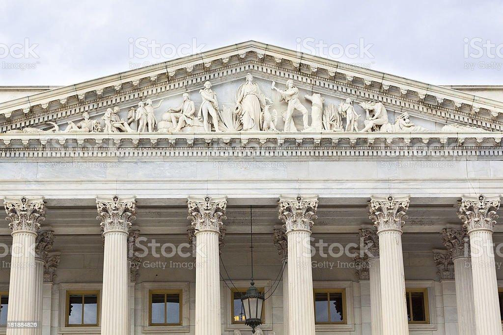 Capitol Building North wing, Washington DC royalty-free stock photo