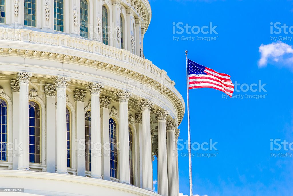 US Capitol Building of the United States Government stock photo