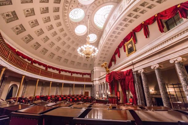 U.S. Capitol Building Old Senate Chamber in Washington, DC stock photo