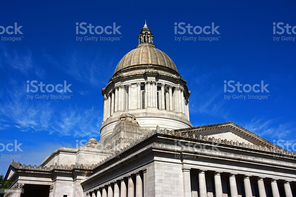 capitol building Olympia Washington US stock photo