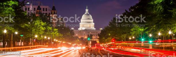 Capitol building panorama on pennsylvania avenue in washington dc usa picture id1149569980?b=1&k=6&m=1149569980&s=612x612&h=n dbfnzy93ieem8wnbc8lcphxvcvqc7awirxbm9kh78=