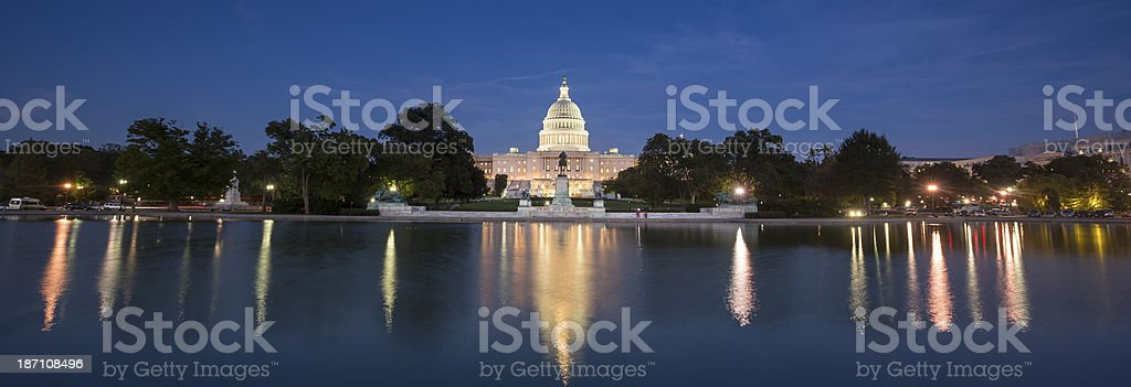 Capitol Building Panorama royalty-free stock photo