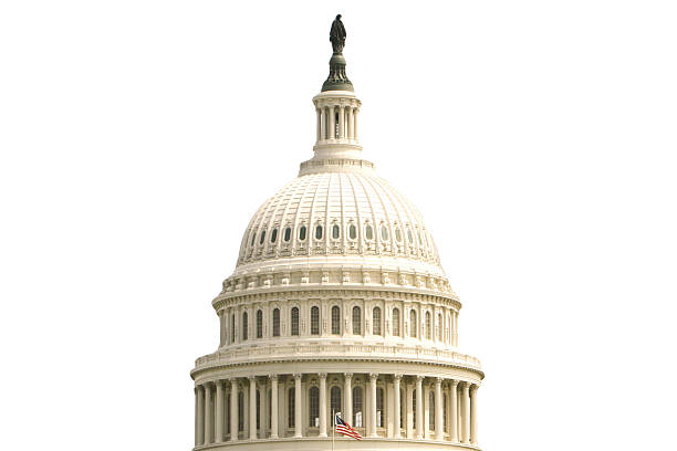 US Capitol Building USA Capitol Isolated on white. state capitol building stock pictures, royalty-free photos & images