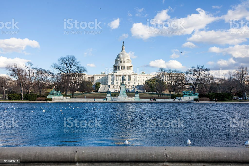 US Capitol Building US Capitol building in a good weather American Culture Stock Photo
