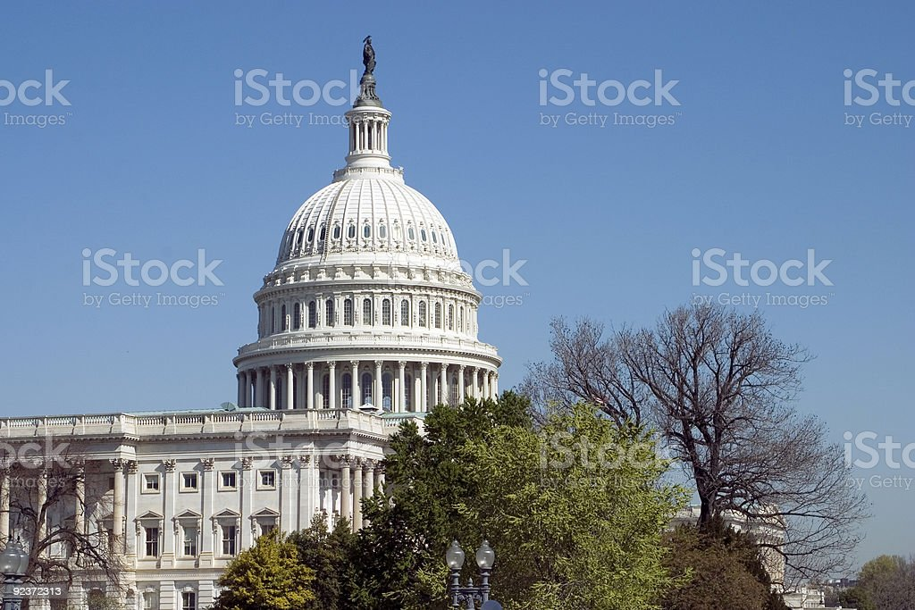US Capitol Building royalty-free stock photo
