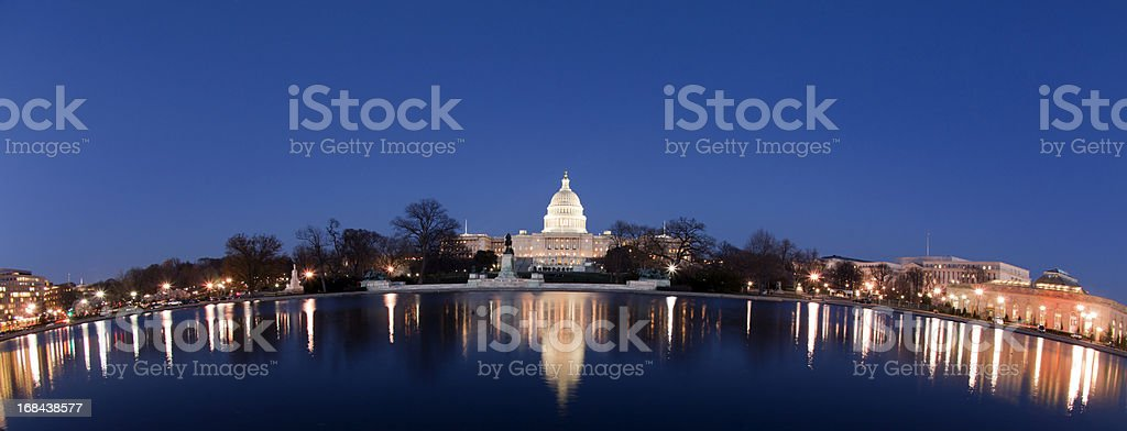 Capitol Building reflecting pool royalty-free stock photo