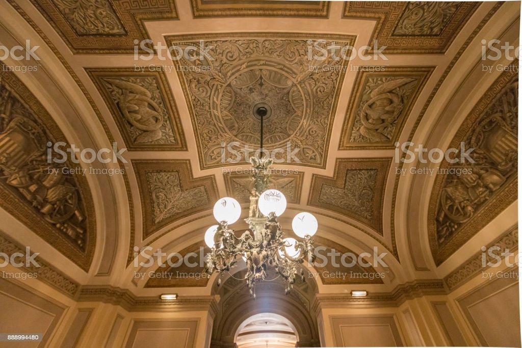 U.S. Capitol Building Senate Corridor in Washington, DC stock photo