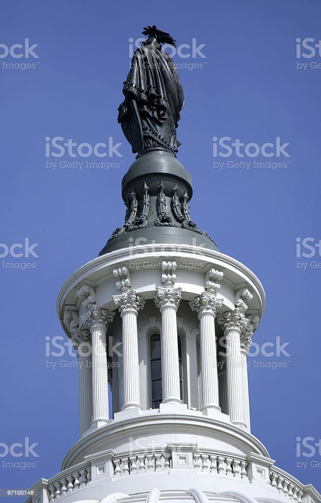 Capitol Building Statue in DC stock photo