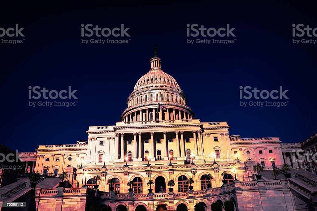 Capitol building Washington DC night  US stock photo
