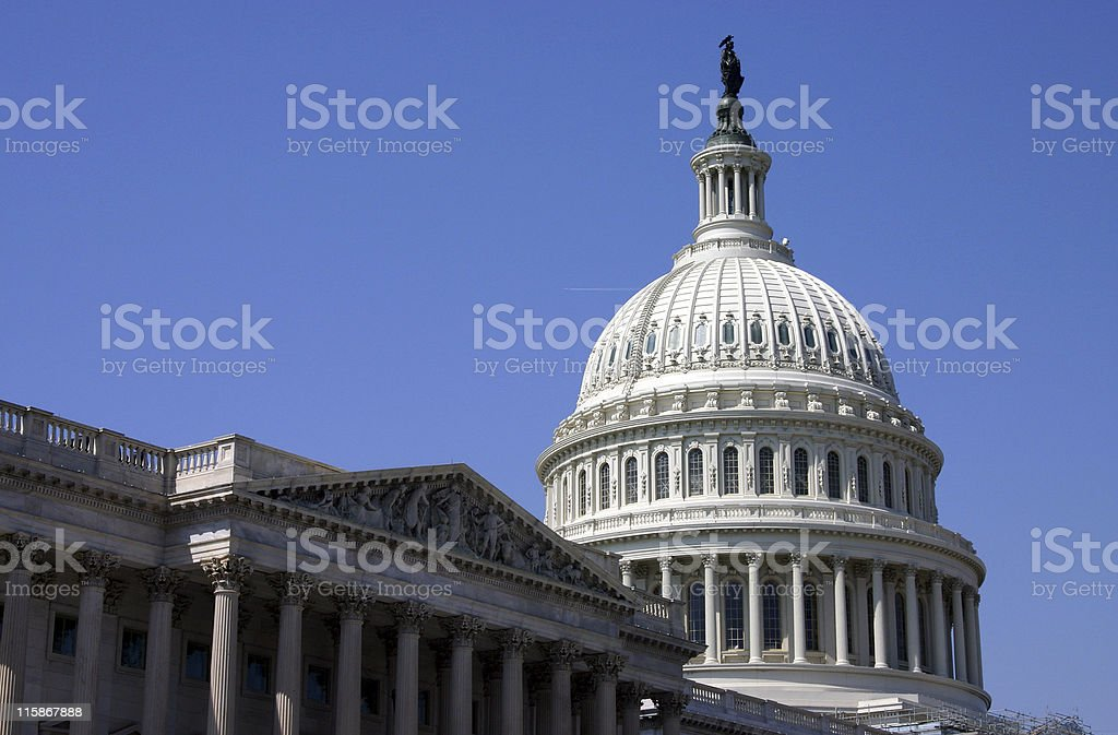 Capitol Building, Washington DC royalty-free stock photo