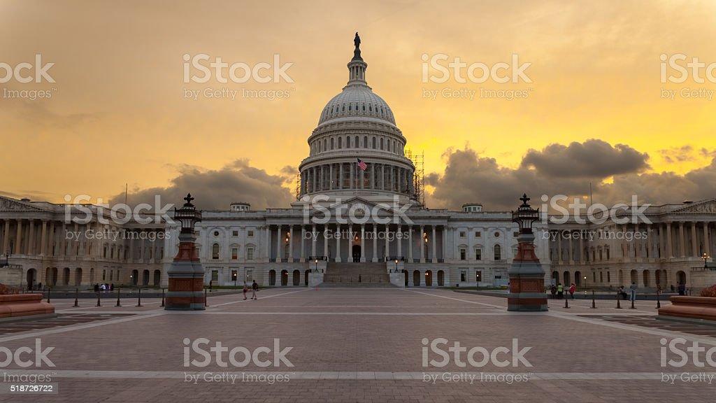 Capitol building Washington DC sunset stock photo