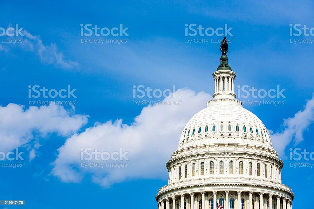 Capitol Building, Washington stock photo