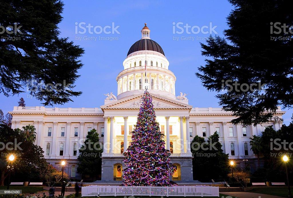 Capitol Christmas Tree stock photo