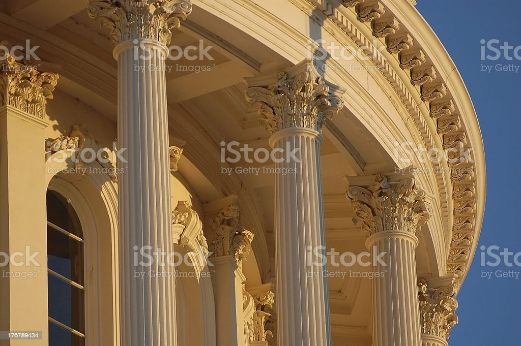 Capitol Columns at Dusk stock photo