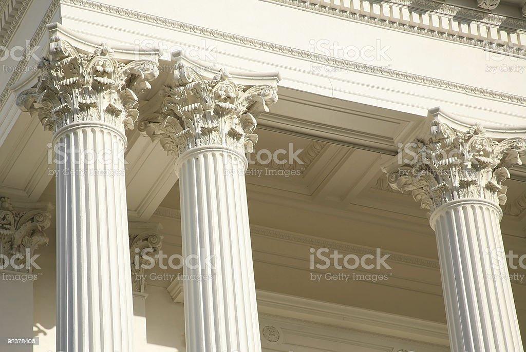 Capitol Columns - Classic Architecture stock photo