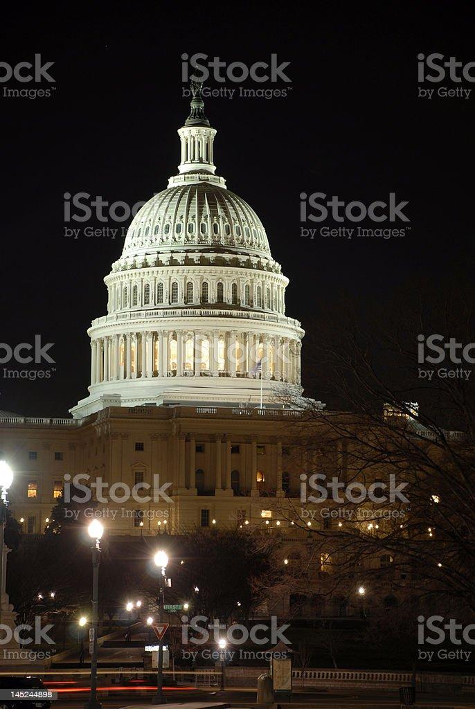 Capitol DC at night stock photo