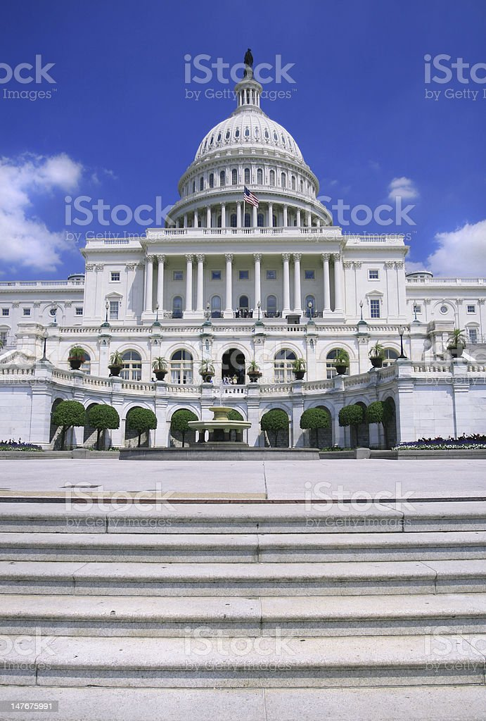 US Capitol Detail stock photo
