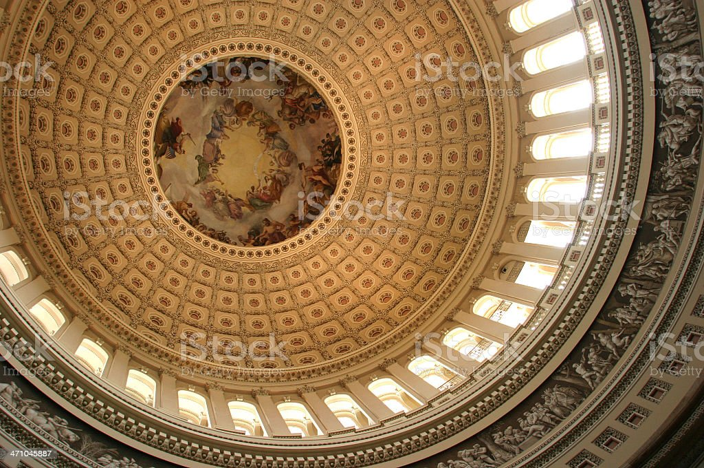 Capitol Dome Above The Rotunda Gallery royalty-free stock photo