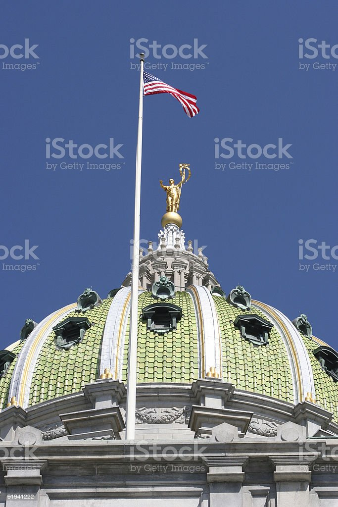 Capitol Dome, Harrisburg royalty-free stock photo