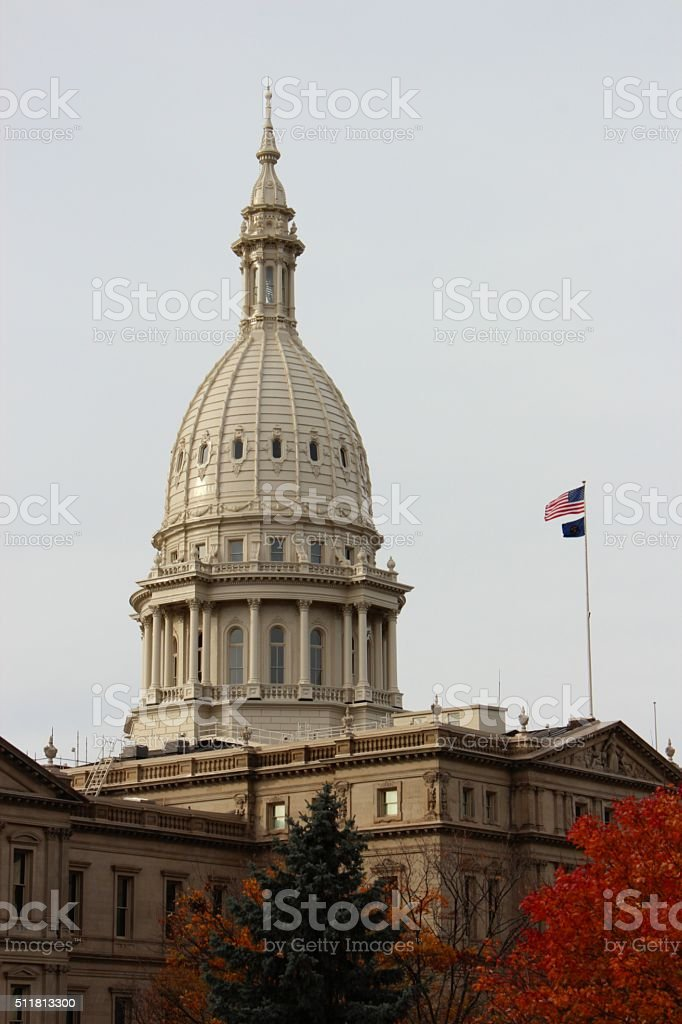 Capitol Dome in Lansing Michigan stock photo