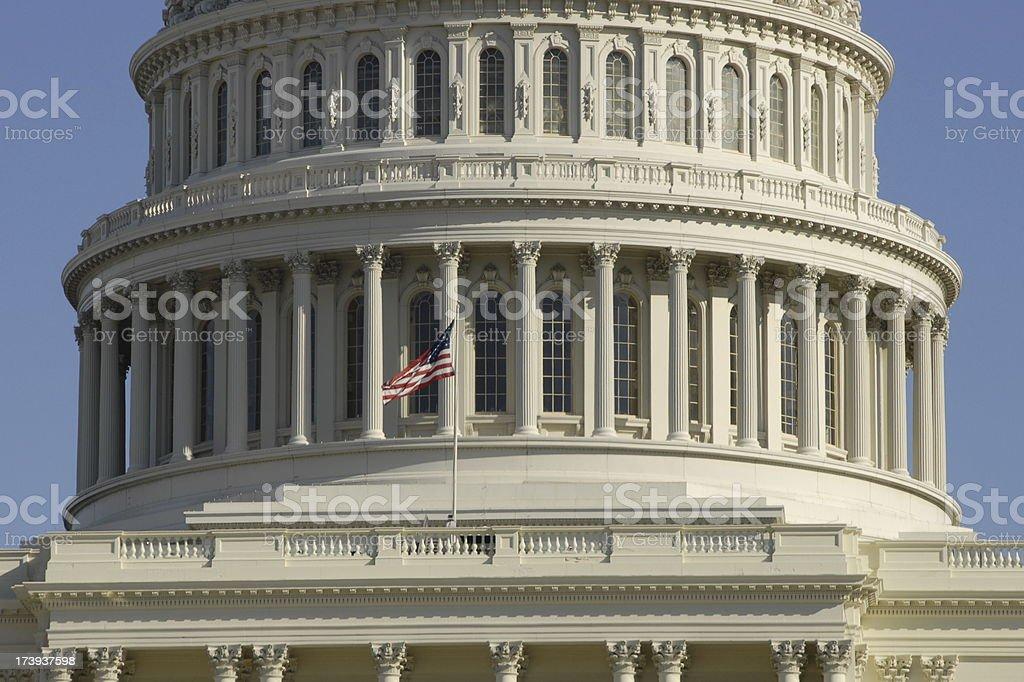 Capitol Dome in Washington DC stock photo