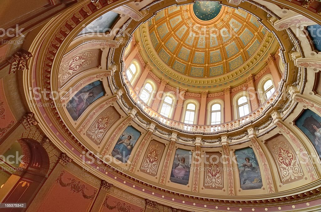 Capitol Dome, Lansing Michigan royalty-free stock photo