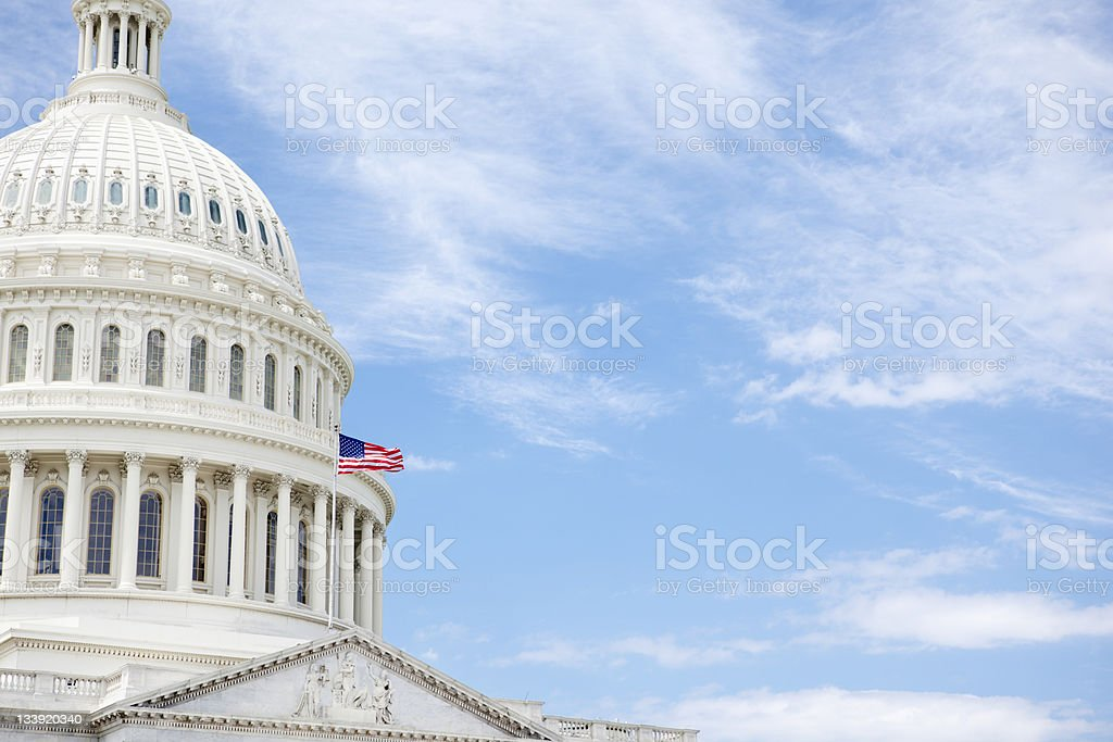 US Capitol Dome royalty-free stock photo