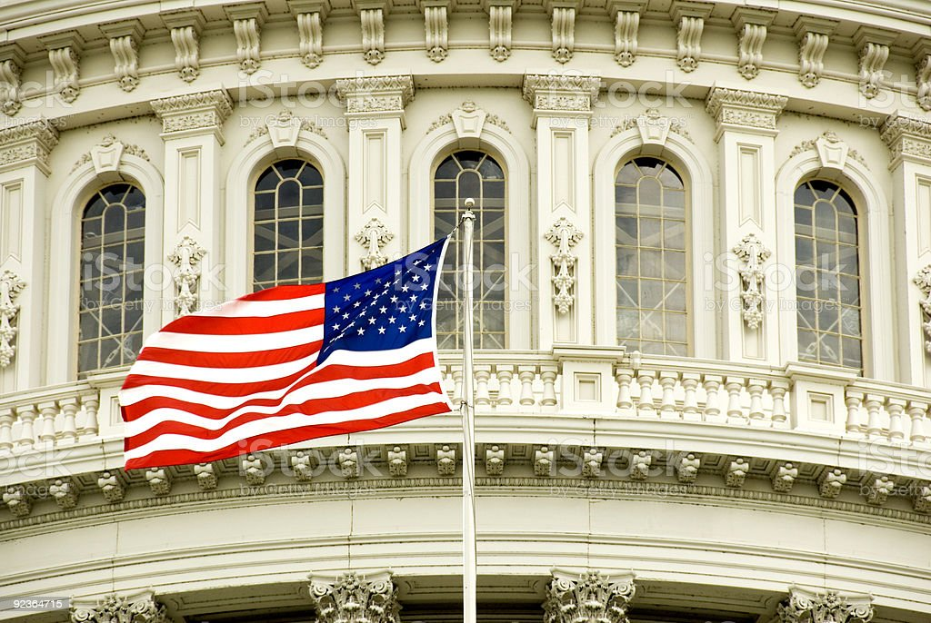 Capitol Flag royalty-free stock photo