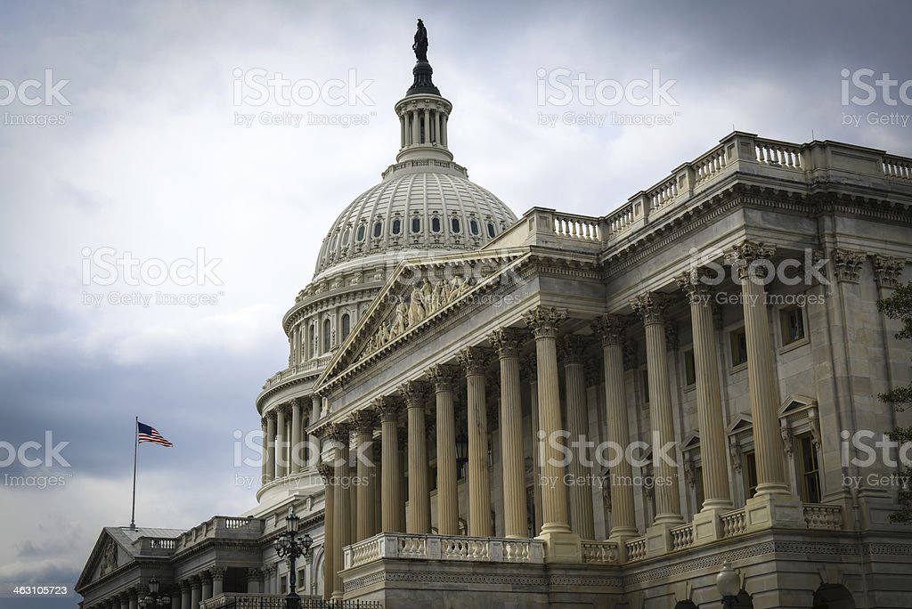 Capitol Hill Building in United States of America stock photo