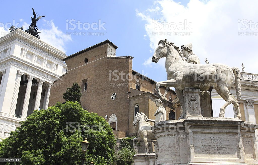 Capitol hill in Rome royalty-free stock photo
