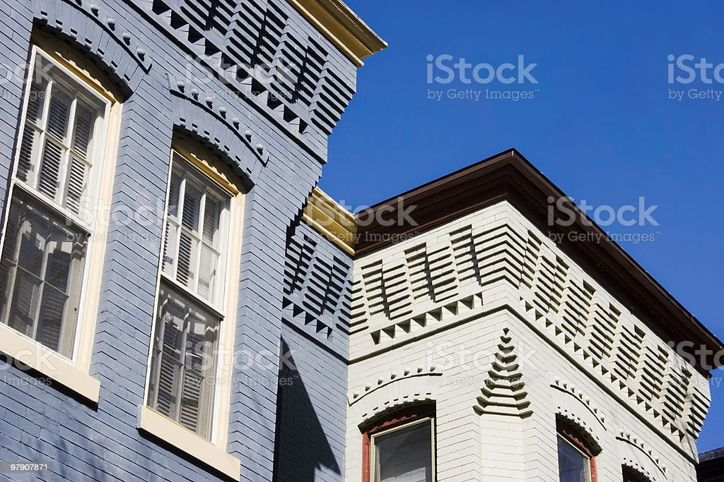 Capitol Hill Row Houses royalty-free stock photo