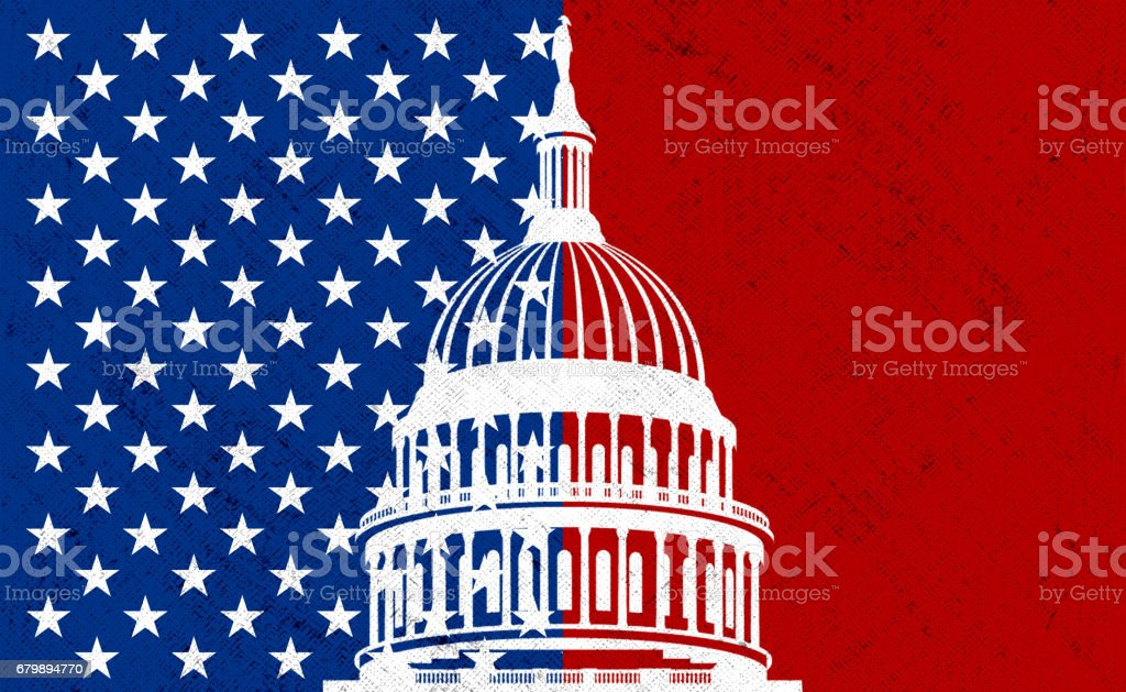 USA Capitol illustration stock photo