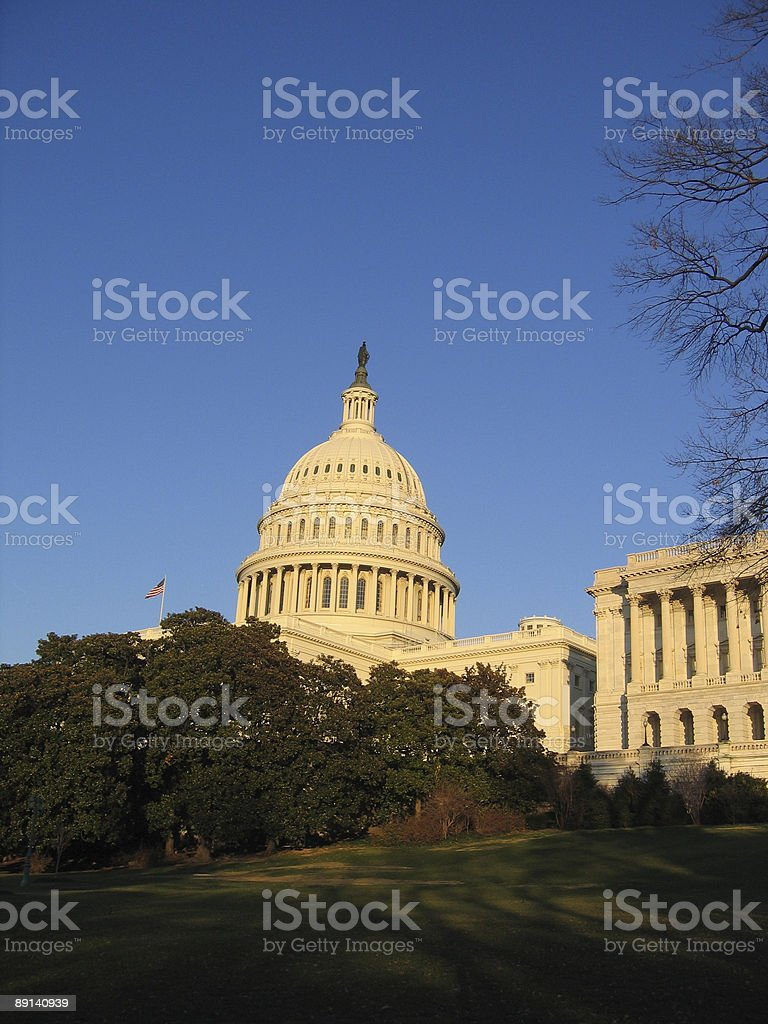 capitol in fall stock photo
