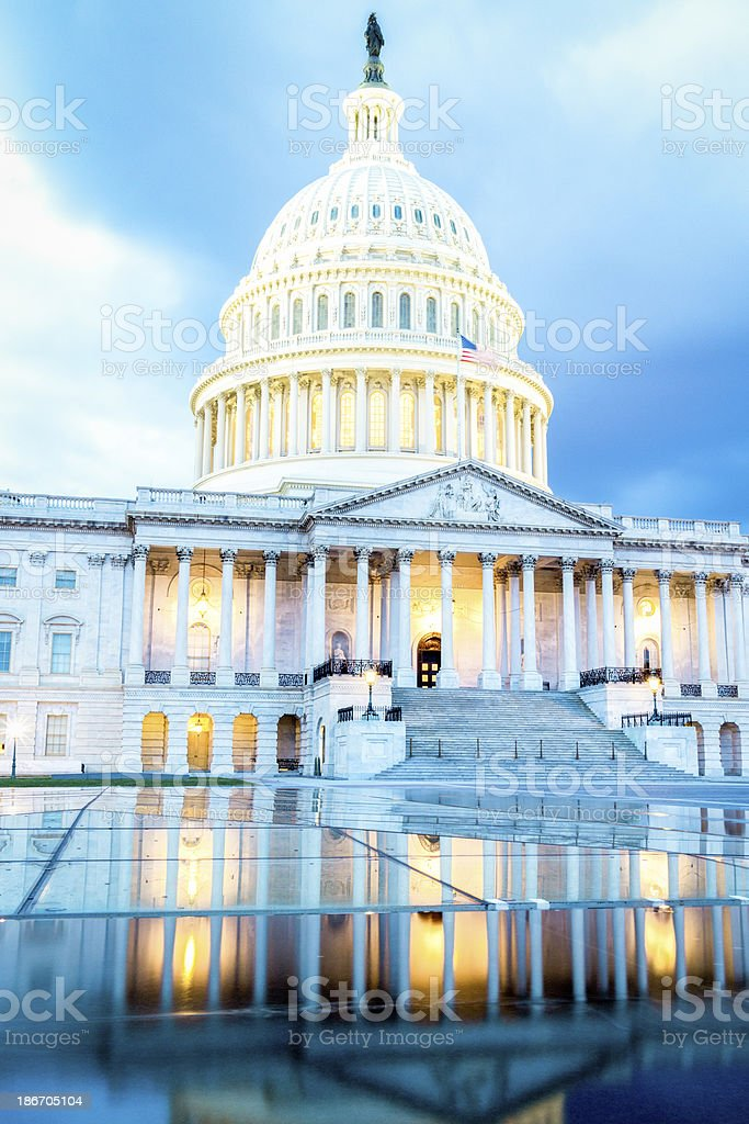 US Capitol in Reflection royalty-free stock photo