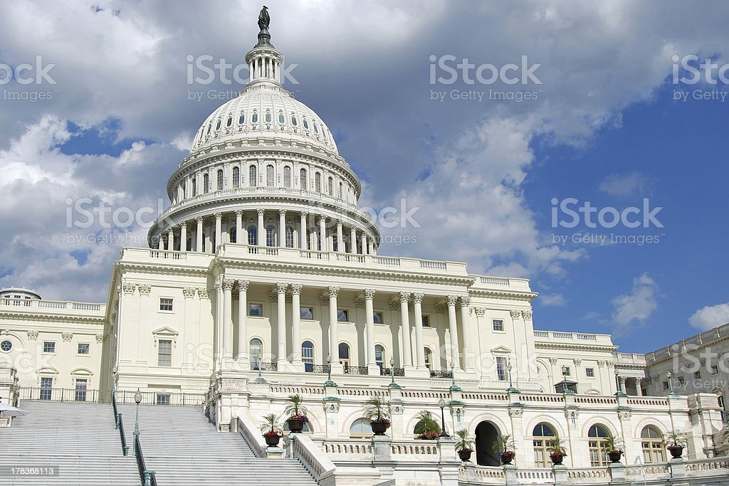 US Capitol in Washington DC stock photo
